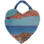 Mother s Love  by Madzinga Art Giant Heart Shaped Tote
