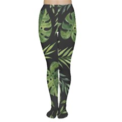 Night Tropical Leaves Tights by goljakoff