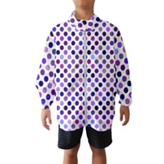Shades Of Purple Polka Dots Windbreaker (kids) by retrotoomoderndesigns