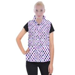 Shades Of Purple Polka Dots Women s Button Up Vest by retrotoomoderndesigns