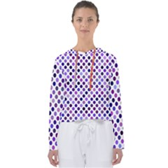 Shades Of Purple Polka Dots Women s Slouchy Sweat by retrotoomoderndesigns