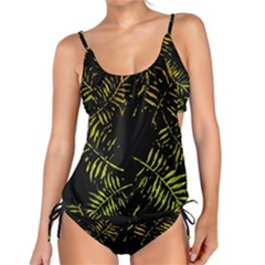 Green Tropical Leaves Tankini Set by goljakoff