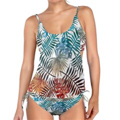 Gradient Tropical Leaves Tankini Set by goljakoff