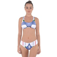 Spaceship Rocket Space Game Cosmos Criss Cross Bikini Set