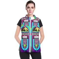 Jukebox Music Music Player Women s Puffer Vest by Wegoenart