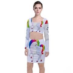 Rainbow Unicorn Unicorn Heart Top And Skirt Sets by Wegoenart