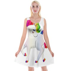 Rainbow Unicorn Unicorn Heart Reversible Velvet Sleeveless Dress by Wegoenart