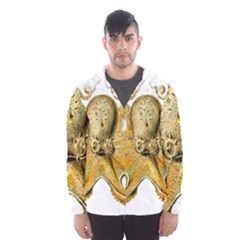 Animal Art Forms In Nature Clips Hooded Windbreaker (men)