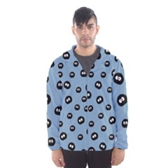 Totoro - Soot Sprites Pattern Hooded Windbreaker (men) by Valentinaart