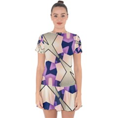 Digital Art 3d Drop Hem Mini Chiffon Dress by Jojostore