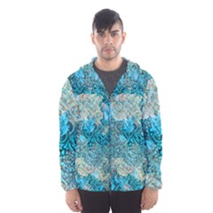 Background Scrapbooking Paper Hooded Windbreaker (men) by AnjaniArt