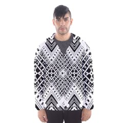 Pattern Tile Repeating Geometric Hooded Windbreaker (men) by Pakrebo