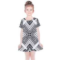 Pattern Tile Repeating Geometric Kids  Simple Cotton Dress by Pakrebo