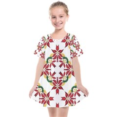 Christmas Wallpaper Background Kids  Smock Dress by Pakrebo