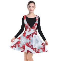 Christmas Background Tile Gifts Plunge Pinafore Dress