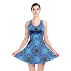 Blue Tile Wallpaper Texture Reversible Skater Dress