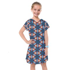 Pattern Tile Background Seamless Kids  Drop Waist Dress by Pakrebo