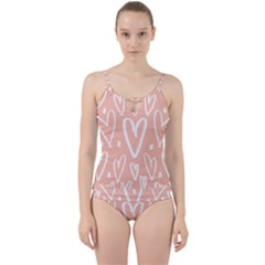 Coral Pattren With White Hearts Cut Out Top Tankini Set by alllovelyideas