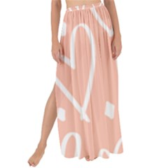 Coral Pattren With White Hearts Maxi Chiffon Tie Up Sarong by alllovelyideas