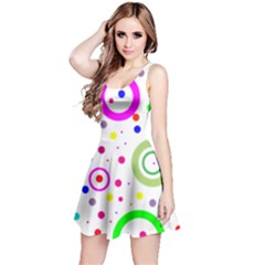 Round Abstract Design Reversible Sleeveless Dress