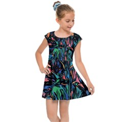 Tree Forest Abstract Forrest Kids  Cap Sleeve Dress