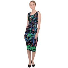 Tree Forest Abstract Forrest Sleeveless Pencil Dress by Pakrebo