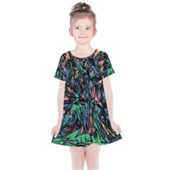 Tree Forest Abstract Forrest Kids  Simple Cotton Dress