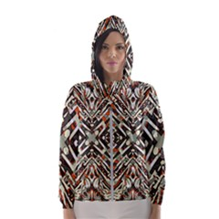 Arabic Backdrop Background Cloth Hooded Windbreaker (women) by Pakrebo