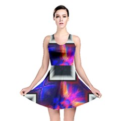 Box Abstract Frame Square Reversible Skater Dress