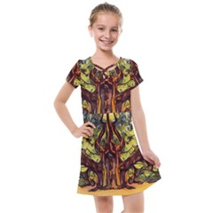 Tree Monster Maestro Landscape Kids  Cross Web Dress by Pakrebo
