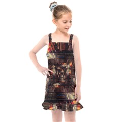 Library Tunnel Books Stacks Kids  Overall Dress by Pakrebo
