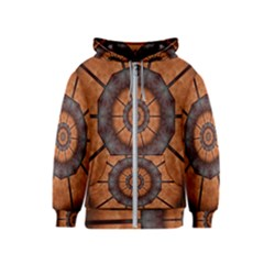 Abstract Kaleidoscope Texture Kids  Zipper Hoodie