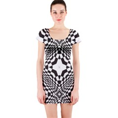 Tile Repeating Pattern Texture Short Sleeve Bodycon Dress by Pakrebo