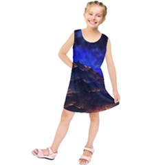 Landscape Sci Fi Alien World Kids  Tunic Dress