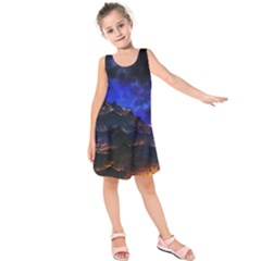 Landscape Sci Fi Alien World Kids  Sleeveless Dress