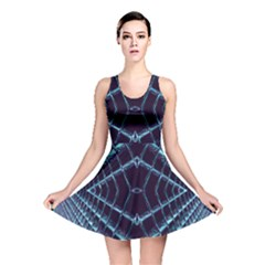 Sci Fi Texture Futuristic Design Reversible Skater Dress