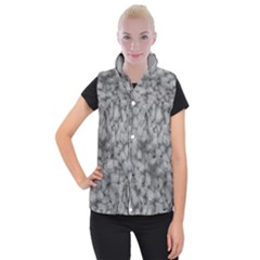 Soft Gray Stone Pattern Texture Design Women s Button Up Vest by dflcprintsclothing