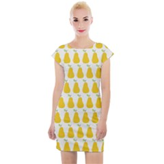 Pears Fruit Fruits Autumn Harvest Cap Sleeve Bodycon Dress by AnjaniArt