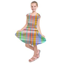 Abstract Color Kids  Short Sleeve Dress