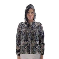 Grunge Camo Print Design Hooded Windbreaker (women) by dflcprintsclothing