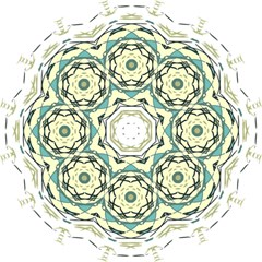 Circle Vector Background Abstract Folding Umbrellas