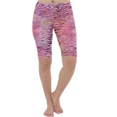 Funny Galaxy Tiger Pattern Cropped Leggings  by tarastyle