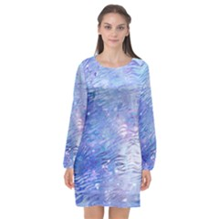Funny Galaxy Tiger Pattern Long Sleeve Chiffon Shift Dress  by tarastyle