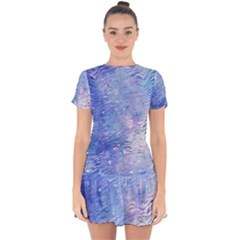 Funny Galaxy Tiger Pattern Drop Hem Mini Chiffon Dress