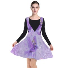 Fairy With Fantasy Bird Plunge Pinafore Dress by FantasyWorld7
