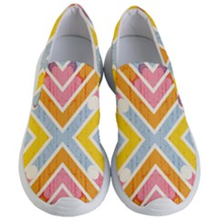 Line Pattern Cross Print Repeat Women s Lightweight Slip Ons