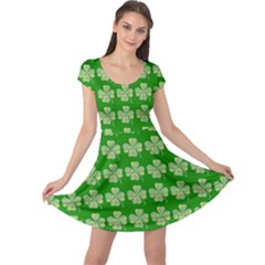 Plaid Shamrocks Clover Cap Sleeve Dress by Desi8477