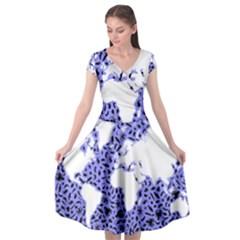Sea Ocean Underwater Cap Sleeve Wrap Front Dress