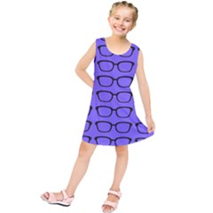 Nerdy Glasses Purple Kids  Tunic Dress