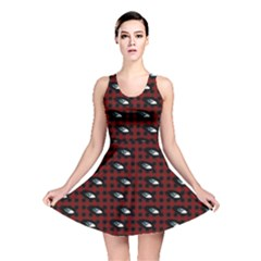 Eyes Red Plaid Reversible Skater Dress by snowwhitegirl